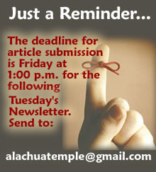 Newsletter Deadline Reminder