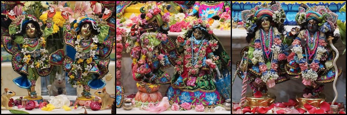 """The small """"chota"""" Deities at ISKCON Alachua Hare Krishna Temple"""