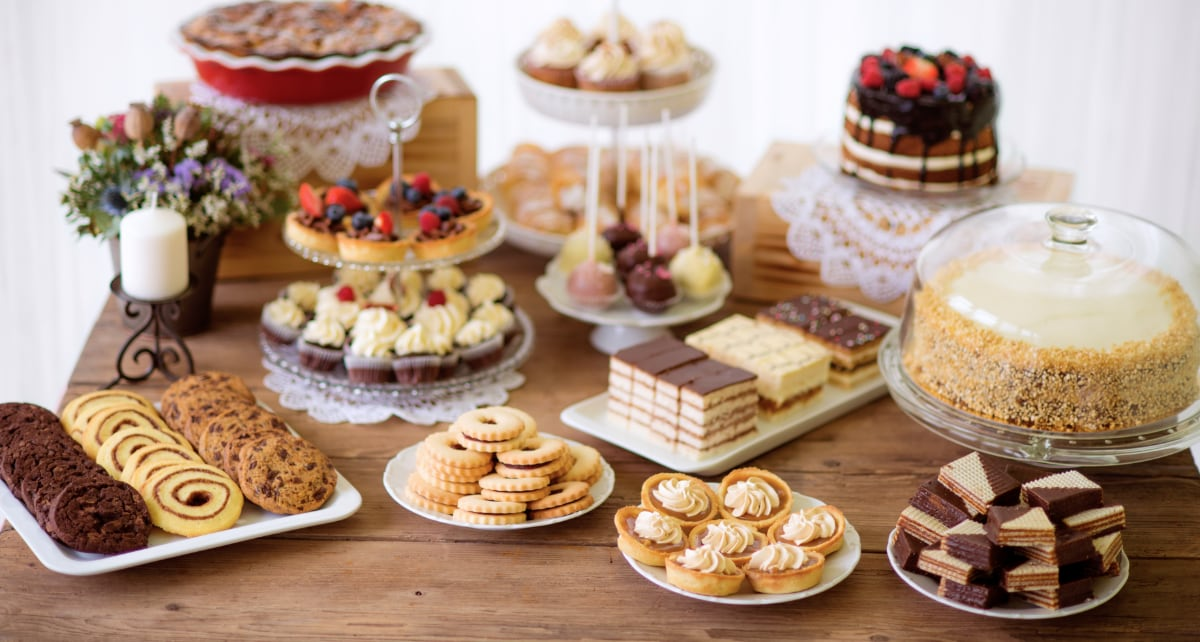 Cakes, pies and cookies, photo courtesy of Shutterstock